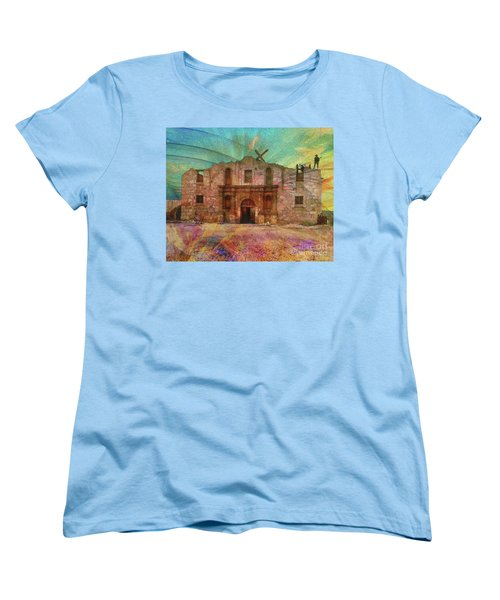 John Wayne's Alamo Women's T-Shirt (Standard Cut) by John Robert Beck