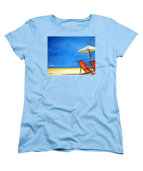 Women's T-Shirt (Standard Cut) featuring the painting Join Me by Suzanne McKee
