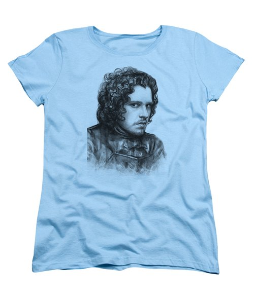 Jon Snow Game Of Thrones Women's T-Shirt (Standard Cut) by Olga Shvartsur