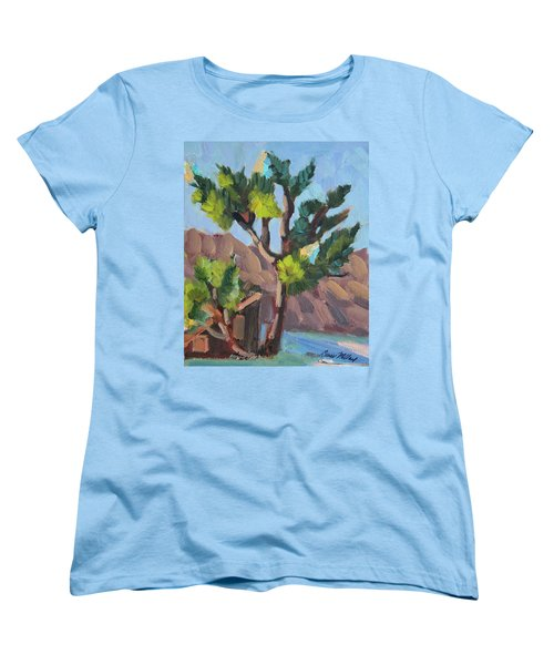 Women's T-Shirt (Standard Cut) featuring the painting Joshua At Keys Ranch by Diane McClary
