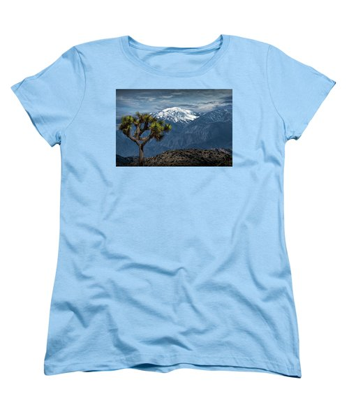 Women's T-Shirt (Standard Cut) featuring the photograph Joshua Tree At Keys View In Joshua Park National Park by Randall Nyhof