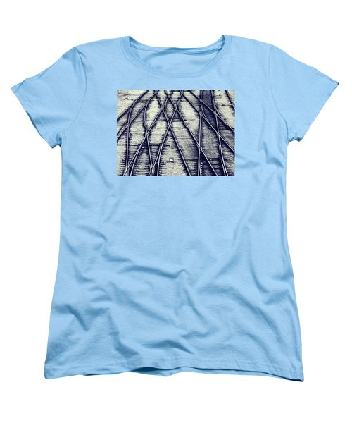 Women's T-Shirt (Standard Cut) featuring the photograph Journey Marks by Wayne Sherriff
