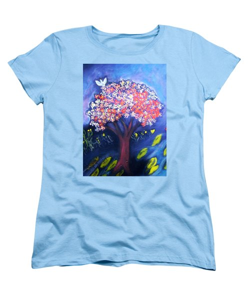 Women's T-Shirt (Standard Cut) featuring the painting Joy by Winsome Gunning