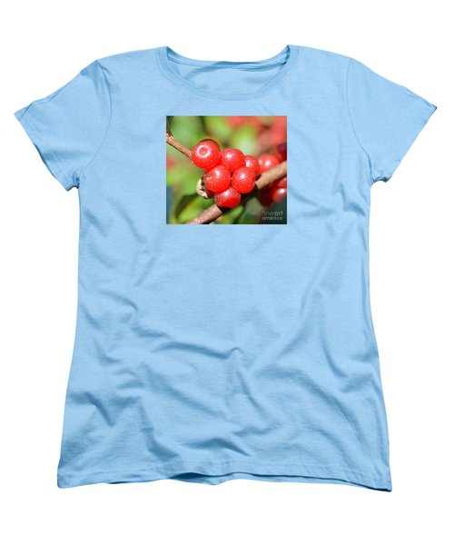 Juicy Red Women's T-Shirt (Standard Cut) by Lew Davis