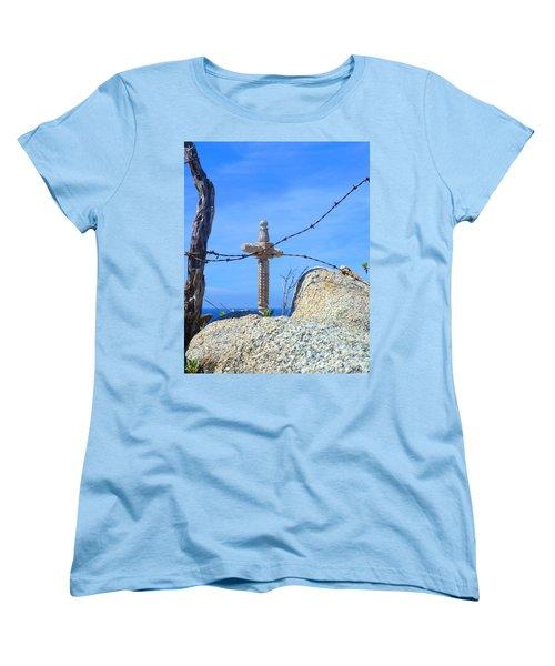Just Beyond Women's T-Shirt (Standard Cut) by Barbie Corbett-Newmin