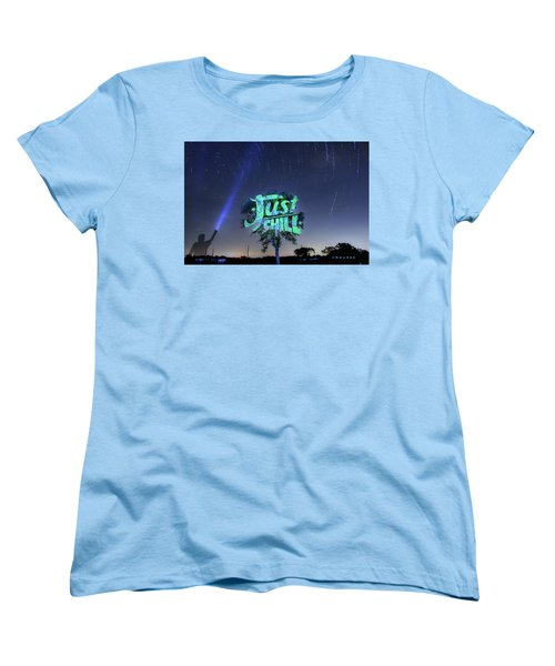 Just Chill Women's T-Shirt (Standard Cut) by Andrew Nourse