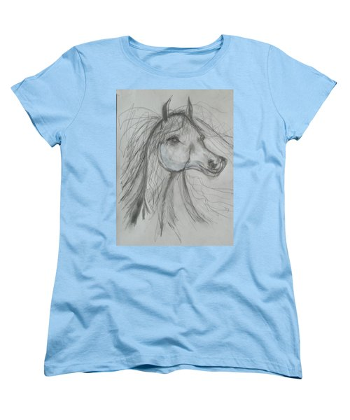 Women's T-Shirt (Standard Cut) featuring the drawing Just Free by Sharyn Winters