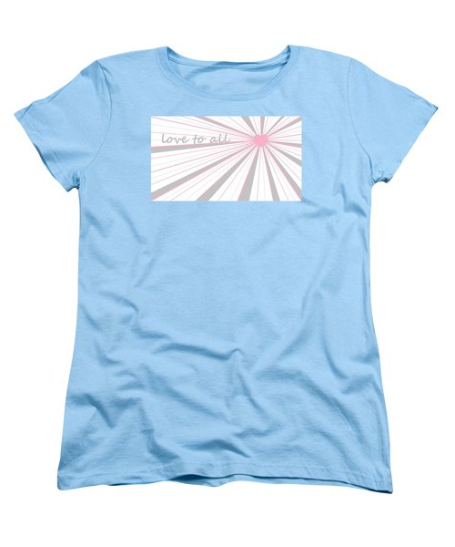 Just Hearts 5 Women's T-Shirt (Standard Cut) by Linda Velasquez