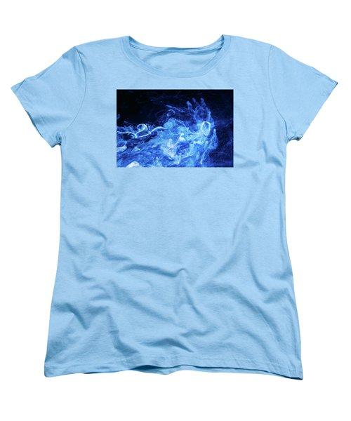 Just Passing By - Blue Art Photography Women's T-Shirt (Standard Cut) by Modern Art Prints