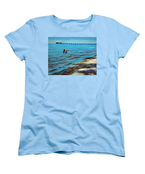 Women's T-Shirt (Standard Cut) featuring the painting Just Passing By by Suzanne McKee