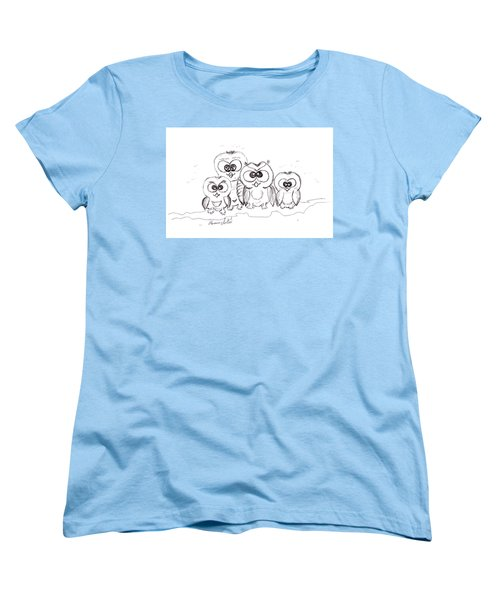 Just The Four Of Us Women's T-Shirt (Standard Cut) by Ramona Matei