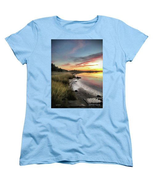Just The Two Of Us At Sunset Women's T-Shirt (Standard Cut) by Phil Mancuso