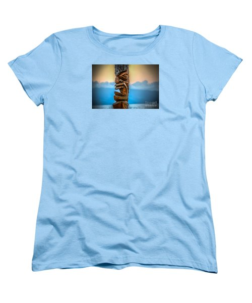 Women's T-Shirt (Standard Cut) featuring the photograph Ka'anapali Tiki by Kelly Wade