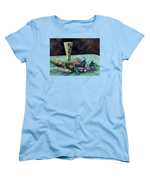 Kaleidoscopes Women's T-Shirt (Standard Cut) by Sam Sidders