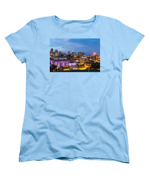 Kansas City Night Sky Women's T-Shirt (Standard Cut) by Steven Bateson