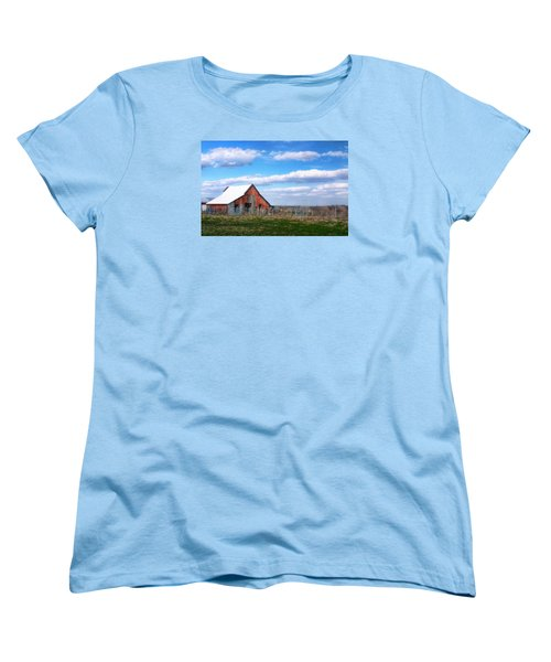 Kansas Farm Women's T-Shirt (Standard Cut) by Joan Bertucci