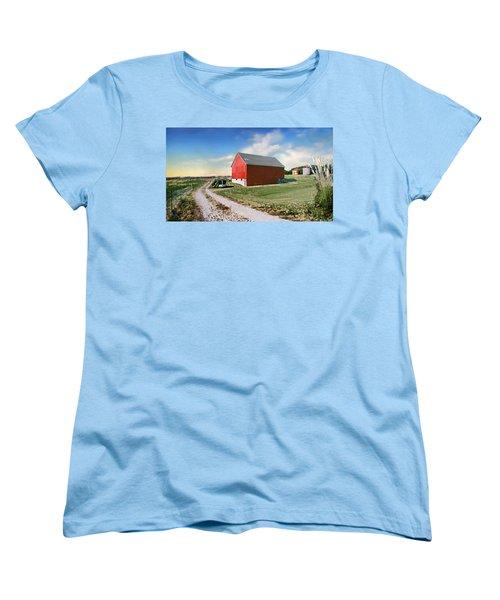 Women's T-Shirt (Standard Cut) featuring the photograph Kansas Landscape II by Steve Karol