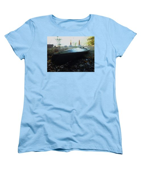 Women's T-Shirt (Standard Cut) featuring the photograph Kayak by Mark Alan Perry
