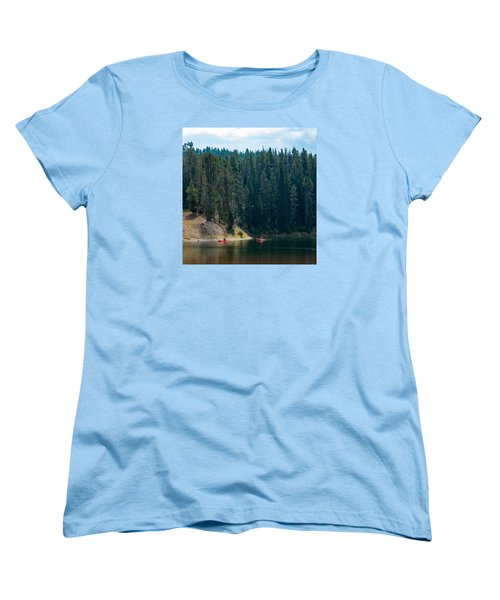 Women's T-Shirt (Standard Cut) featuring the photograph Kayakers by Cathy Donohoue