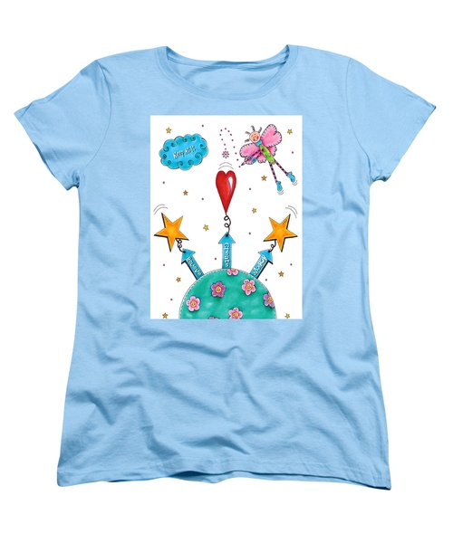 Keep At It Women's T-Shirt (Standard Cut) by Tracy Campbell