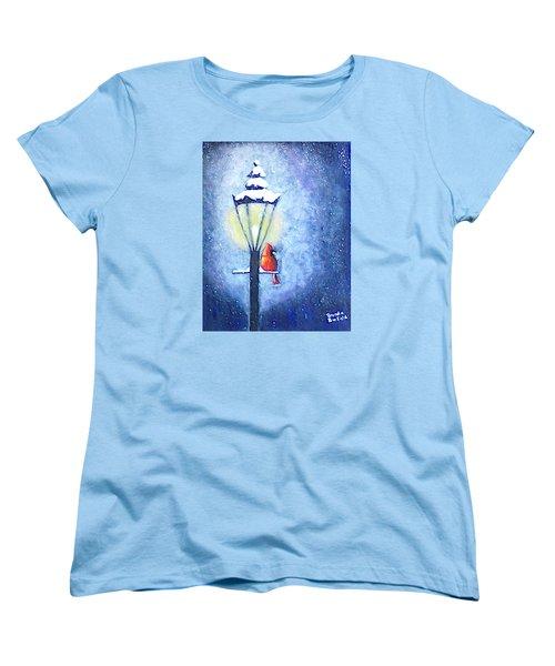 Keeping Warm Women's T-Shirt (Standard Cut) by Brenda Bonfield