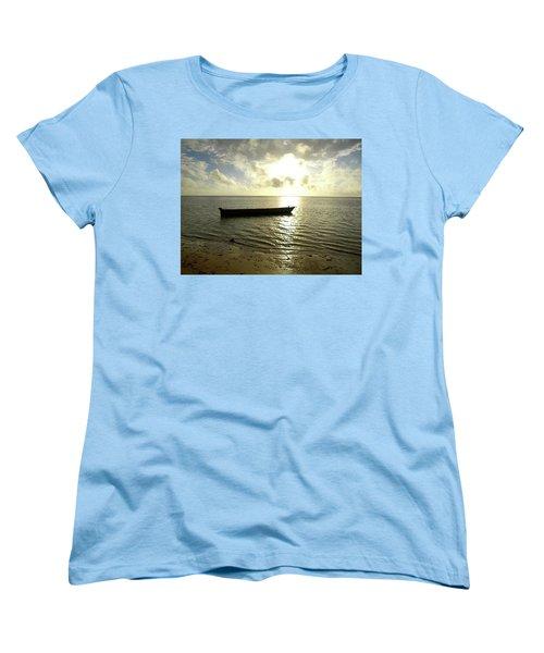 Kenyan Wooden Dhow At Sunrise Women's T-Shirt (Standard Cut) by Exploramum Exploramum