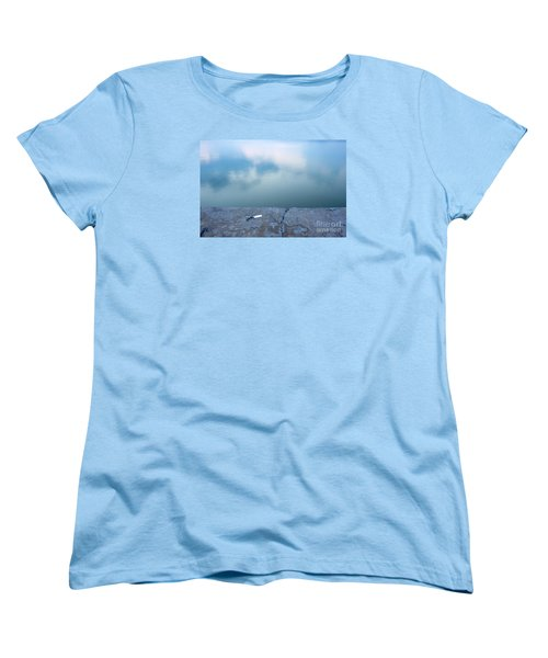 Key On The Lake Shore Women's T-Shirt (Standard Cut) by Odon Czintos