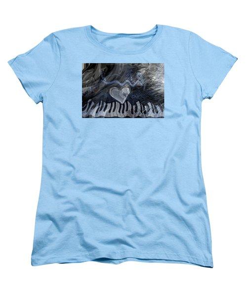 Key Waves Women's T-Shirt (Standard Cut) by Linda Sannuti