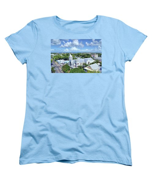 Women's T-Shirt (Standard Cut) featuring the photograph Key West by Olga Hamilton