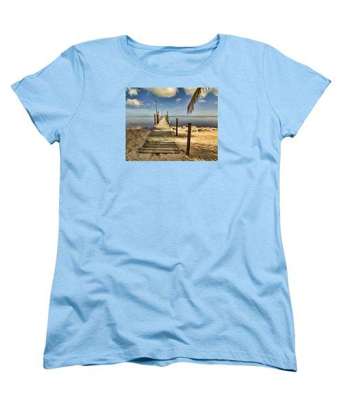 Women's T-Shirt (Standard Cut) featuring the photograph Keys Dock by Don Durfee