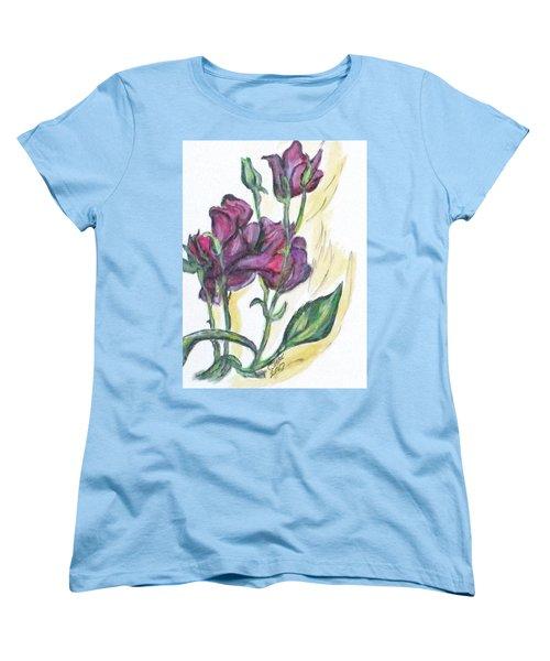 Kimberly's Spring Flower Women's T-Shirt (Standard Cut) by Clyde J Kell