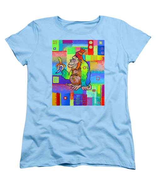 King Konrad The Monkey Women's T-Shirt (Standard Cut) by Jeremy Aiyadurai