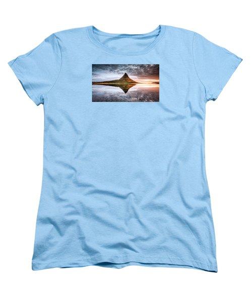 Kirkjafell Mountain Sunrise Women's T-Shirt (Standard Cut) by Brad Grove