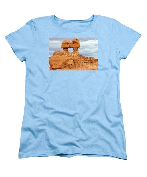Kissing Rock Women's T-Shirt (Standard Cut) by Jason Abando