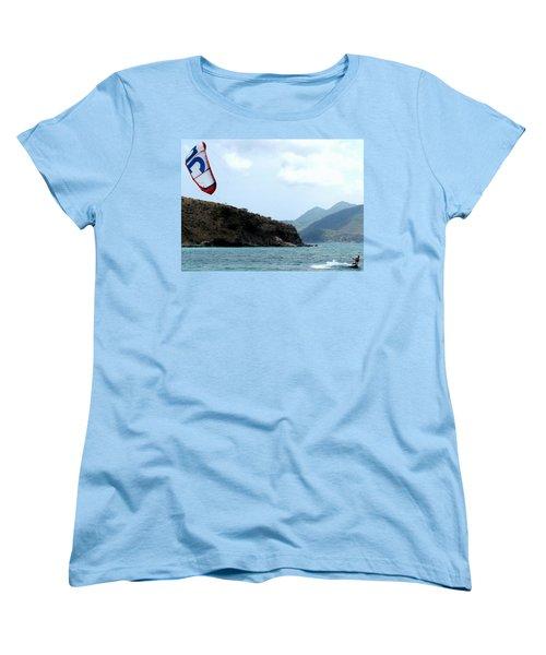 Kite Surfer St Kitts Women's T-Shirt (Standard Cut) by Ian  MacDonald