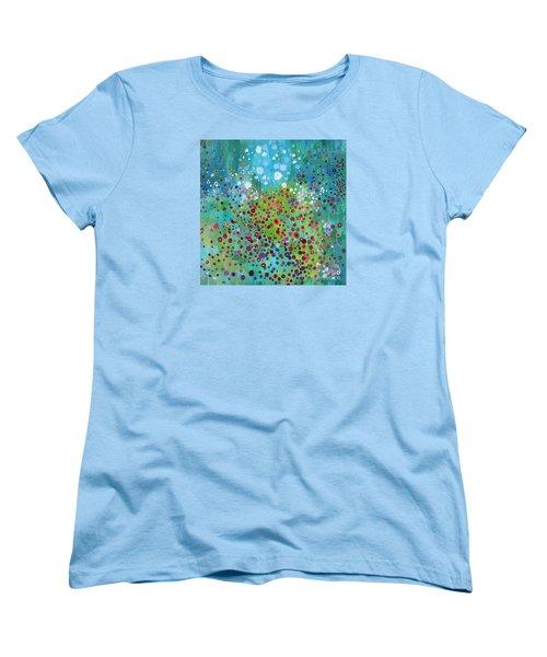 Women's T-Shirt (Standard Cut) featuring the painting Klimt's Garden by Stacey Zimmerman