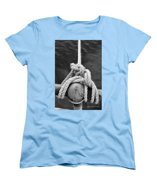 Women's T-Shirt (Standard Cut) featuring the photograph Knot On My Warf Iv by Stephen Mitchell