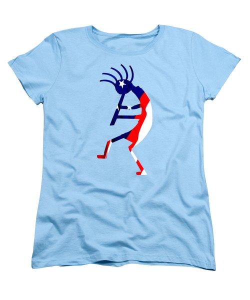 Kokopelli - Patriotic Women's T-Shirt (Standard Cut) by William Bartholomew