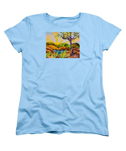 Kookaburra Landscape Women's T-Shirt (Standard Cut) by Judy Via-Wolff