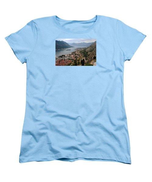Kotor Bay Women's T-Shirt (Standard Cut) by Robert Moss
