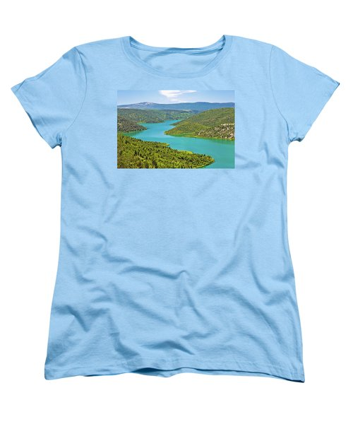 Krka River National Park View Women's T-Shirt (Standard Cut) by Brch Photography