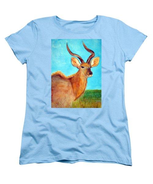 Kudu Women's T-Shirt (Standard Cut) by Patricia Beebe