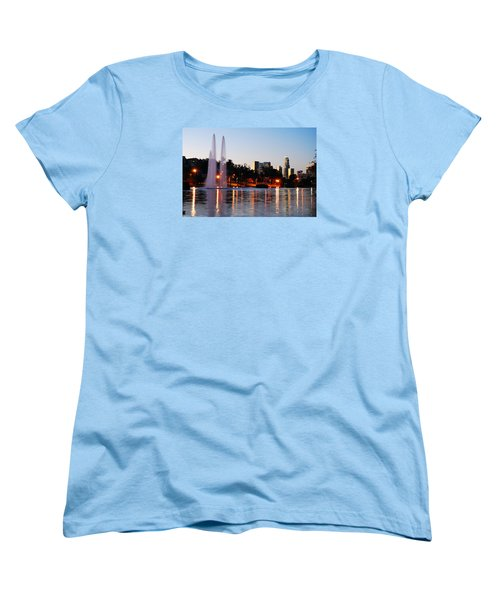 Women's T-Shirt (Standard Cut) featuring the photograph La From Echo Lake by James Kirkikis