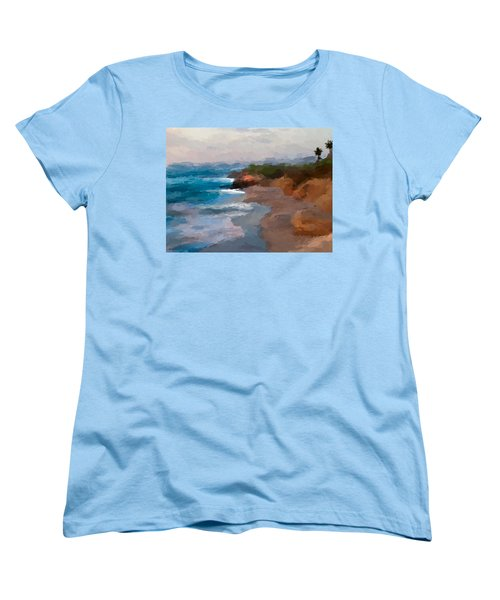 La Jolla California  Women's T-Shirt (Standard Cut) by Anthony Fishburne