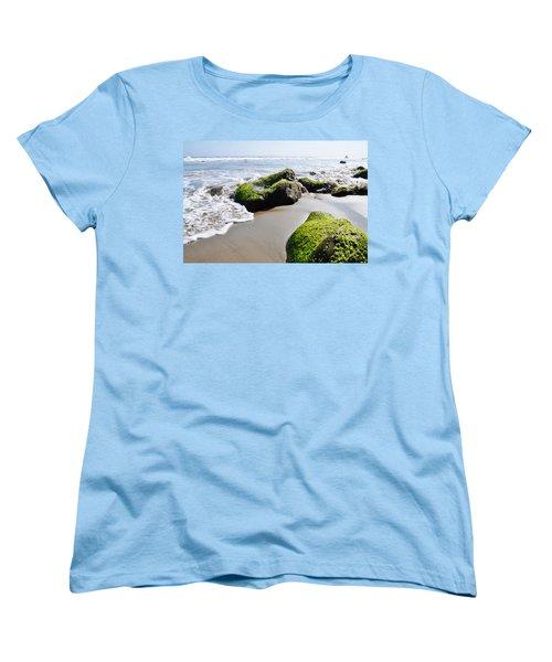 Women's T-Shirt (Standard Cut) featuring the photograph La Piedra Shore Malibu by Kyle Hanson