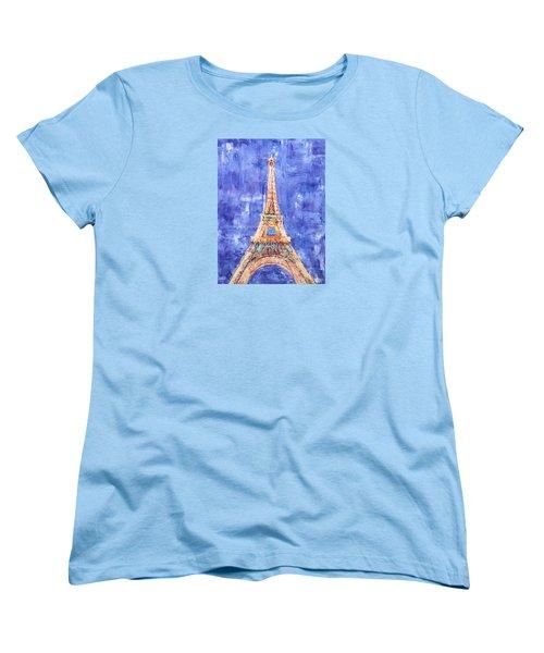 La Tour Eiffel Women's T-Shirt (Standard Cut) by Elizabeth Lock