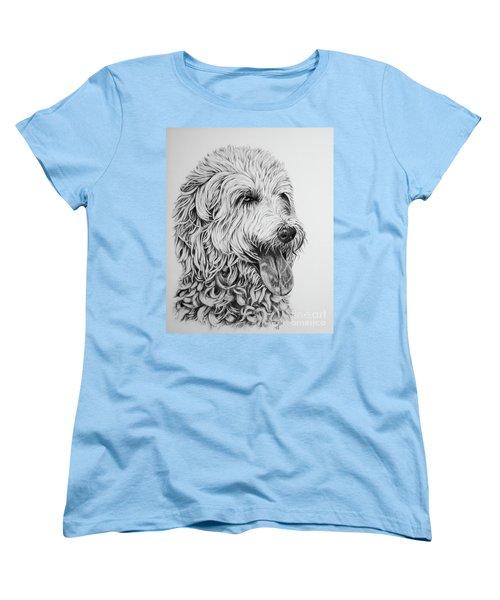 Labradoodle Women's T-Shirt (Standard Cut) by Terri Mills
