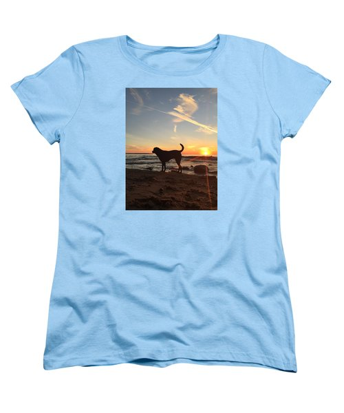 Women's T-Shirt (Standard Cut) featuring the photograph Labrador Dreams by Paula Brown