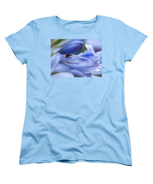 Women's T-Shirt (Standard Cut) featuring the photograph Lady Bug by Trena Mara