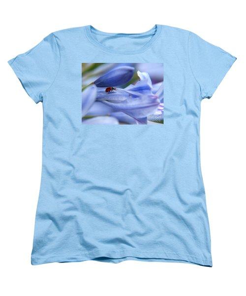 Lady Bug Women's T-Shirt (Standard Cut) by Trena Mara